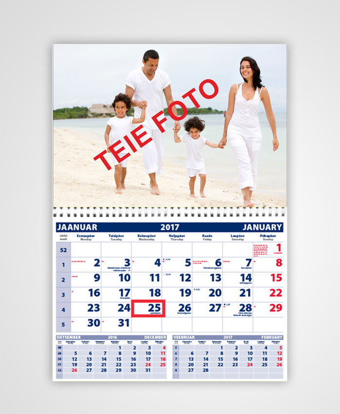 Seinakalender teie pildiga календарь с фото