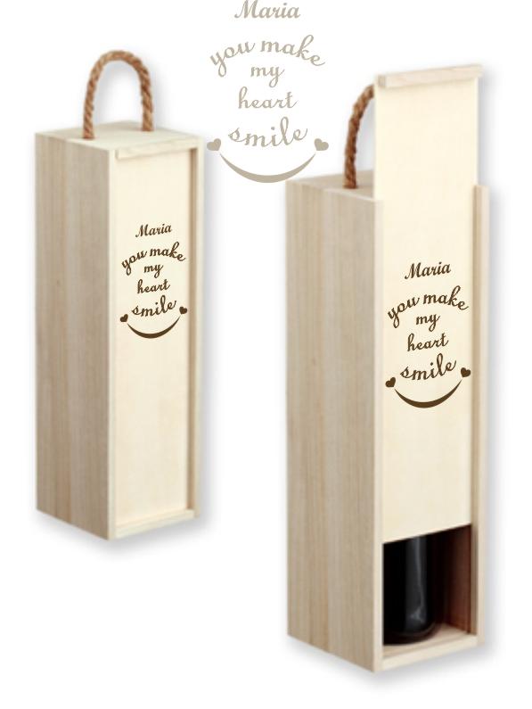 Коробка для вина с именной гравировкой